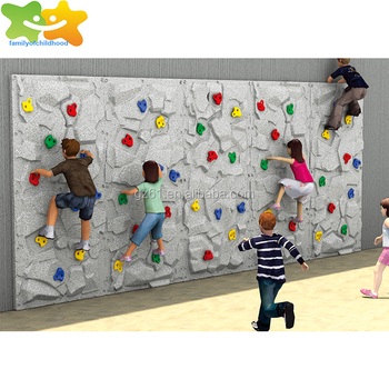 Guangzhou kids plastic rock climbing wall price for sale