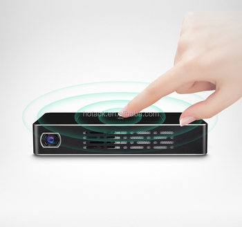 LED intelligent pocket mini multimedia projector with touch panel