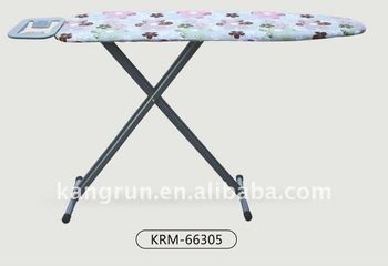 Folding Adjustable Mesh Top Ironing Board With Quot T Quot Legs