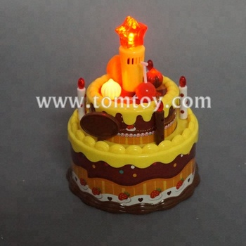 Tomtoy Party Favor LED Light up Happy Birthday Cake with Song