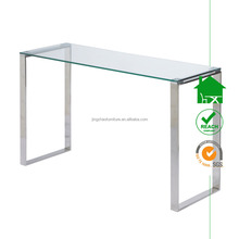 DT-2109 modern console table with glass top
