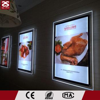 Acrylic A3 Size Led Slim Crystal Light Box Poster Frame - Buy A3 ...