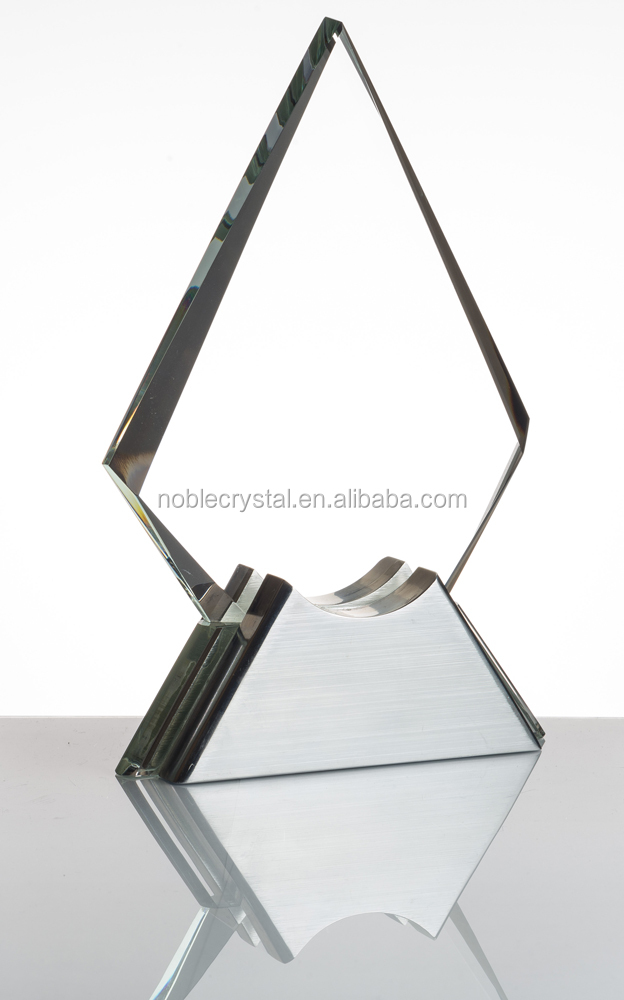 New Design Unique Custom Sail Crystal Trophy Award with Metal Base