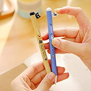 Katoot@ 12pcs/lot Cute Black cat and dog gel pens for writing 0.5mm black ink pen set Kawaii stationery office school supplies canetas