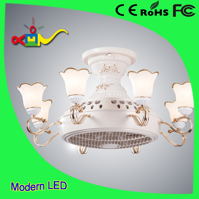 4 speed remote controll modern Anion invisible ceiling fan light