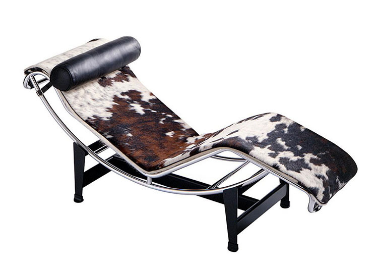 Cowhide leather chaise lounge reclining chair buy for Big and tall chaise lounge