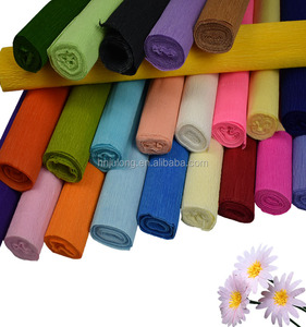 Beautiful coloured flower packaging wrapping crepe paper in decorative paper roll for floral packing