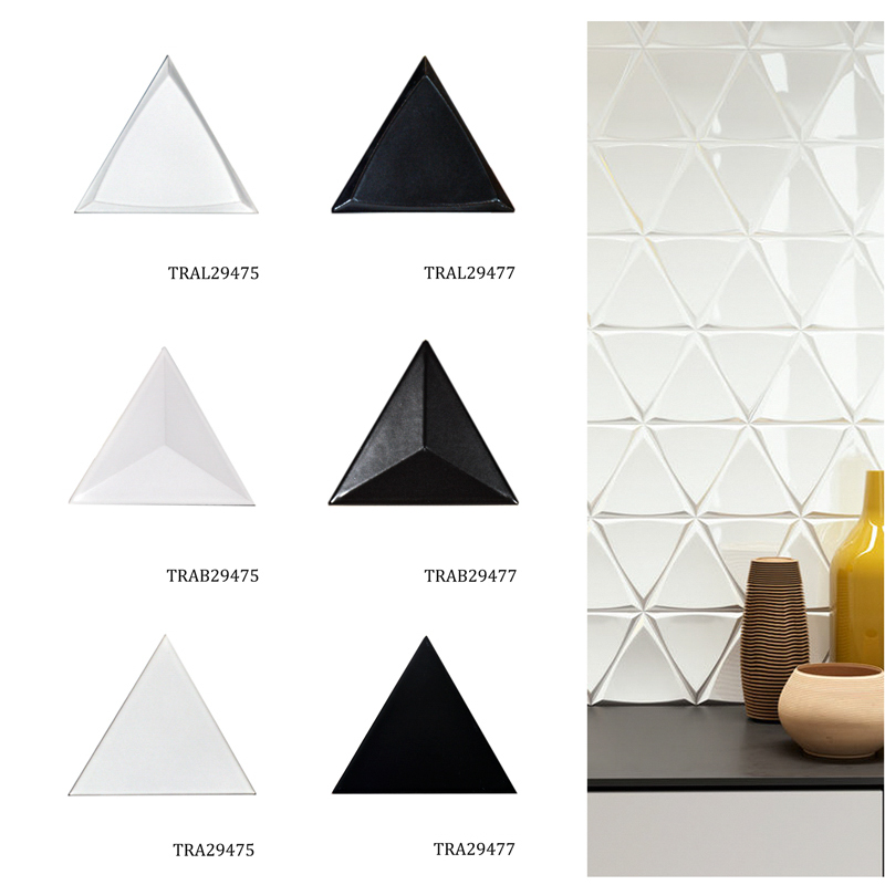3D triangle grey mosaic wall <strong>tile</strong> for Backsplash