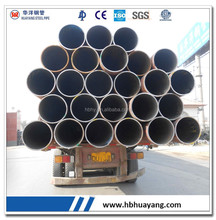 LSAW welded black round steel pipe carbon steel pipe for pilling