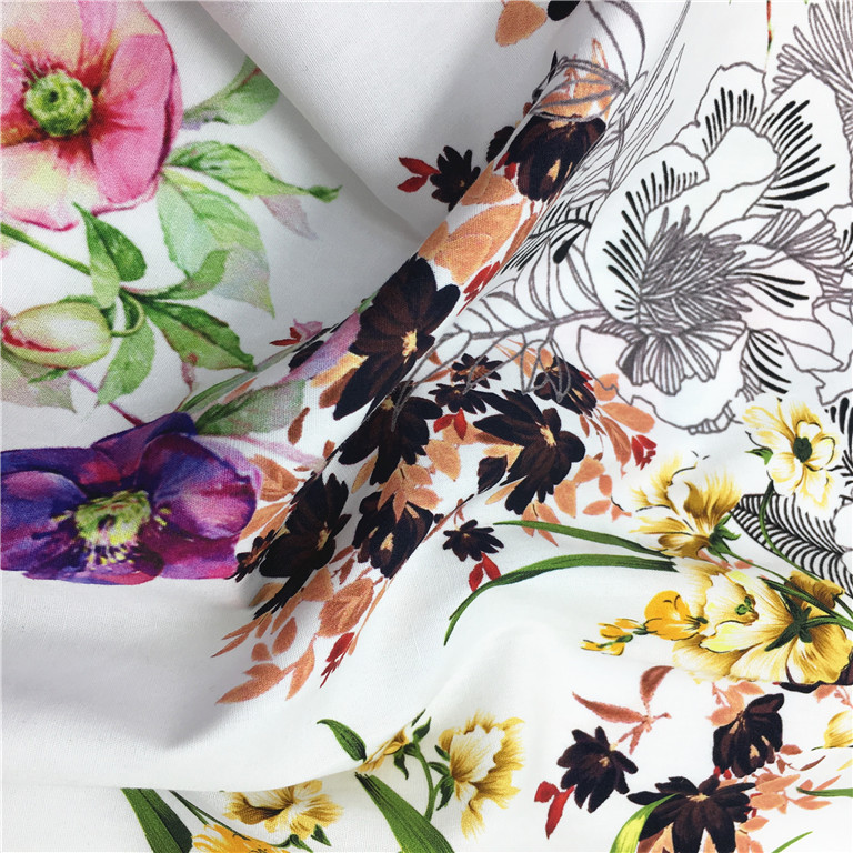 2018 popular digital printing in cotton fabric