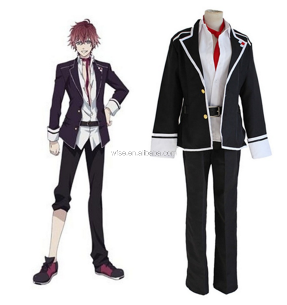 diabolik lovers vampire ayato sakamaki cosplay costume black jacket japanese school uniform halloween costume for men