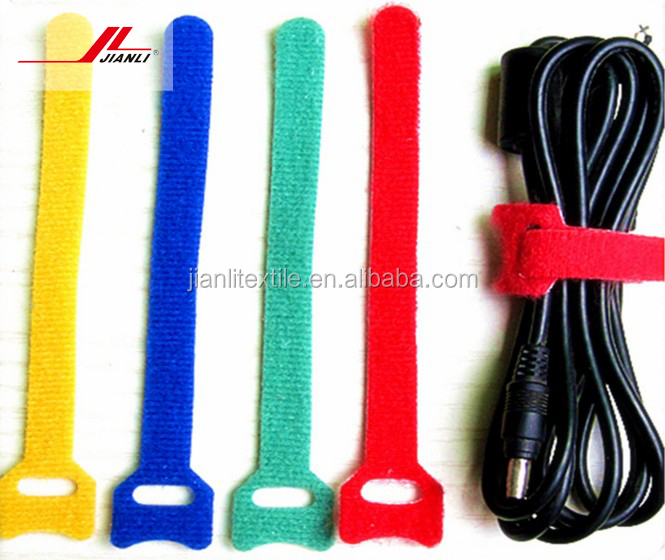 100% Nylon easy wrapping hook and loop strap cable tie
