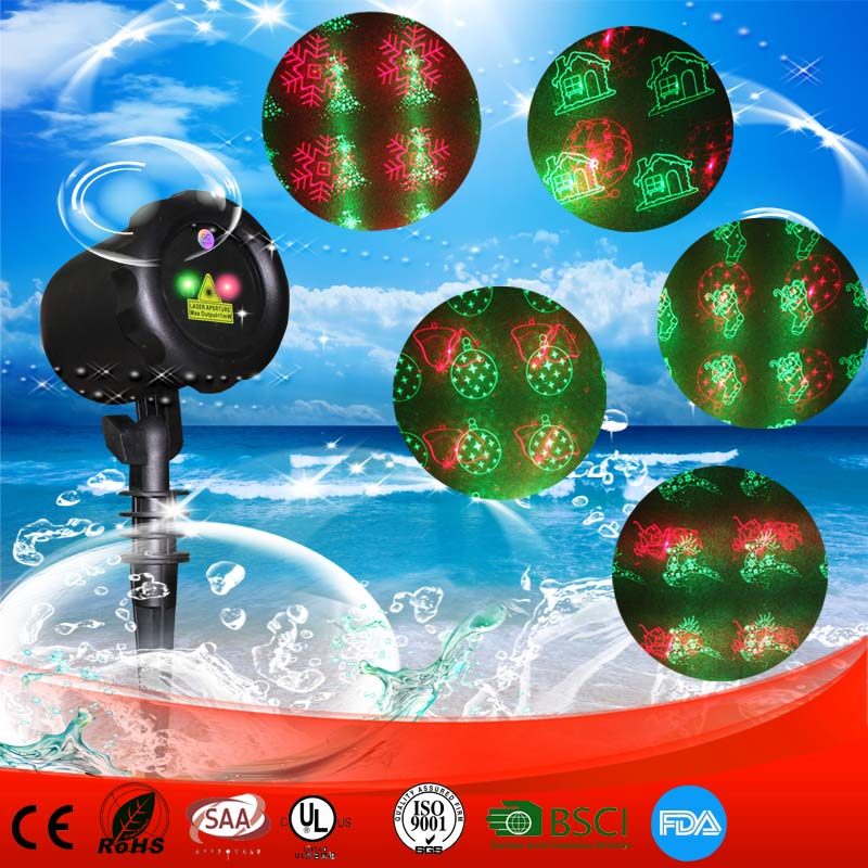 IP65 Outdoor Landscape Firefly Laser 8 Dynamic Christmas Patterns Garden Laser Light Projector