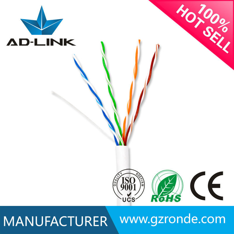 full cooper 4 pr cat5e industrial cable price per meter UTP CAT 5e lan cable for construction