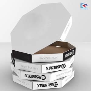 octagon pizza box color printing paper corrugated pizza box