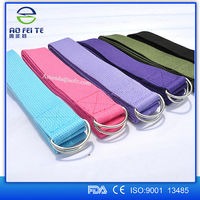New products 2016 Adjustable Yoga Stretch Strap D-Ring Training Belt Waist Leg Fitness Tools