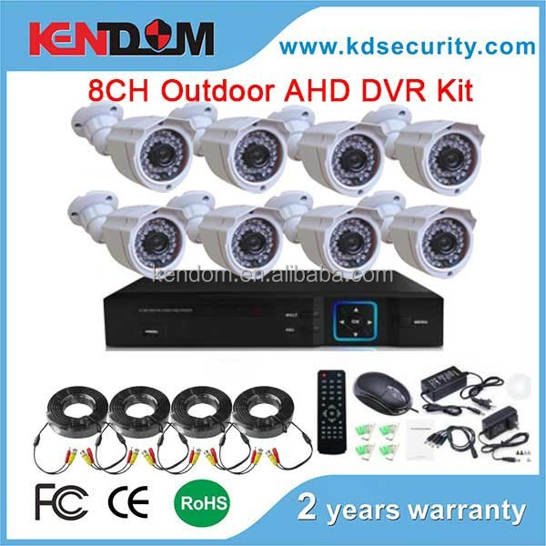New Arrival High Definition 2MP AHD Camera 8 Channel Home Security Camera DVR Kit AHD CCTV Camera Kit