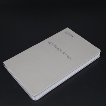 Office grey style hardcover leather planner journal