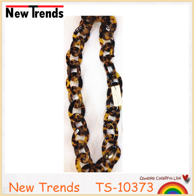 Simple tortoise shell chunky chain link necklace wholesale