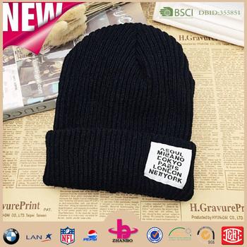 Factory Wholesale Custom Knit Acrylic Cc Beanie - Buy Acrylic Cc ... 0bc189a26df