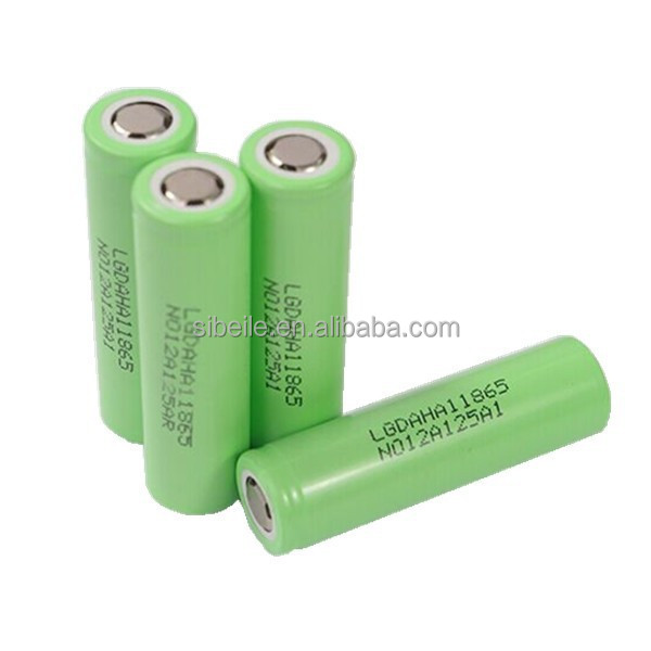3.7 v 1350mah li-ion rechargeable battery LG 18650 1300mAh battery for toys/power tools/E-cig