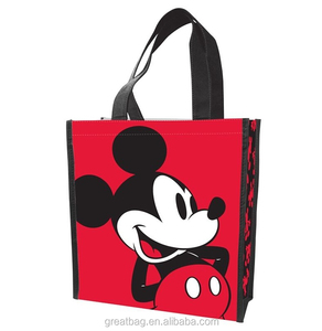 Mickey Mouse Reusable Laminated Shopping Tote Gift Bag