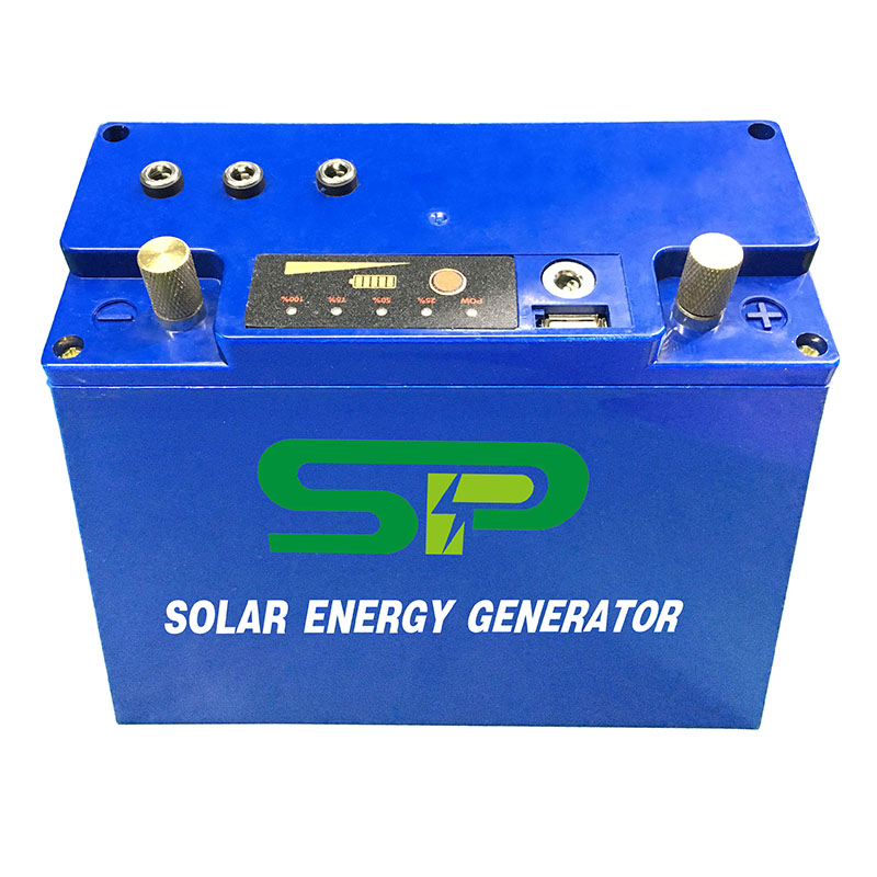 Solar Energy Battery Portable LiFePO4 Battery 5V USB 12V DC Output Solar Panel Input