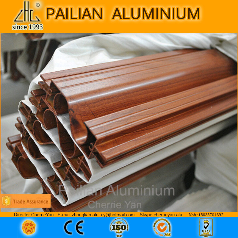 WOW!! wood grain aluminum composite panel /wood grain aluminium manufacturing /oem aluminum wood finish profile