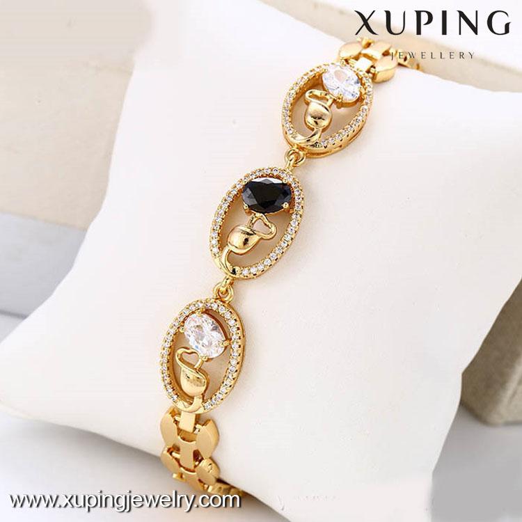73297 Christmas gift 18k gold color good luck bracelet