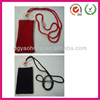 Plain design knitting mobile phone bag with neck sling