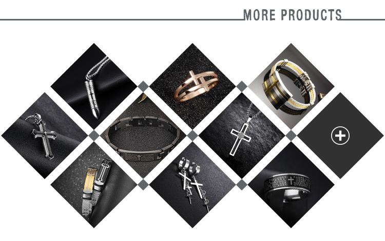 Wholesale fashion hot sale jewelry fashion men's  bible praye titanium steel cross ring