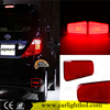 KEEN 12V 6W ABS material auto led rear bumper lights waterproof car warning led brake bumper reflector light for Toyota Alphard