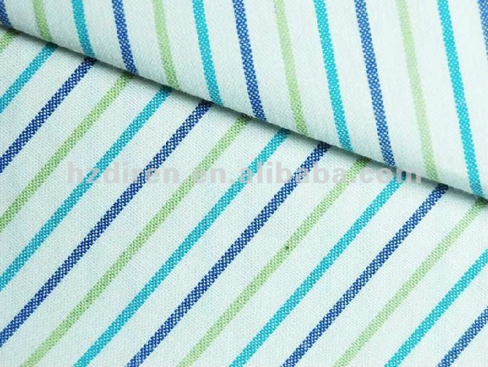 100%cotton plain Yarn-dyed stripe poplin fabric for garment