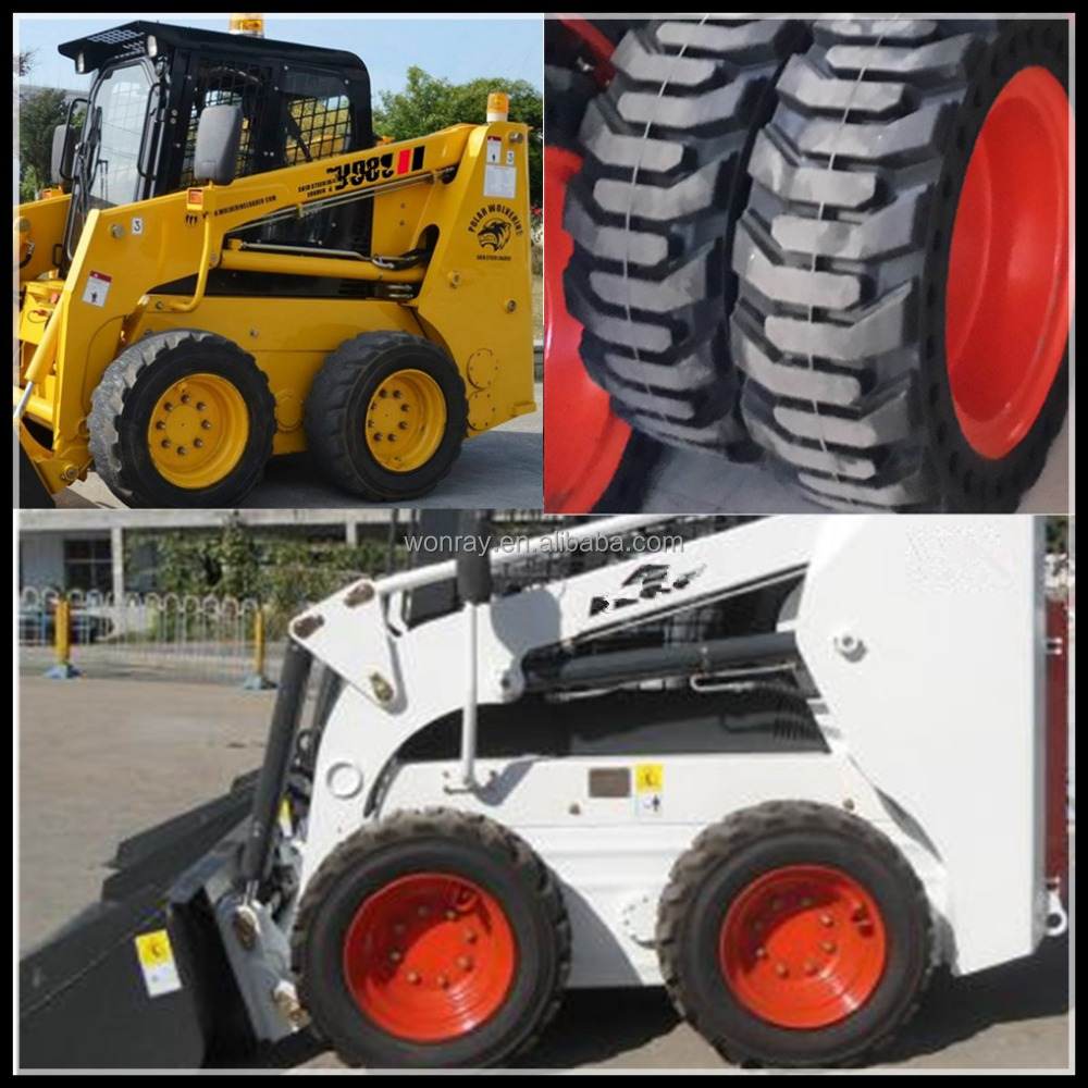 low price Chinese bobcat loader parts for sale, 10.16.5 skidsteer loader tires wheels and rims