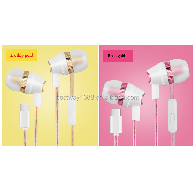Quality metal in-ear style OEM stereo earphone inear headphone with mic