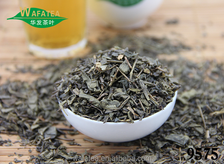 Wholesale 9575 Cheap green tea packed by PPbag and gunny bag