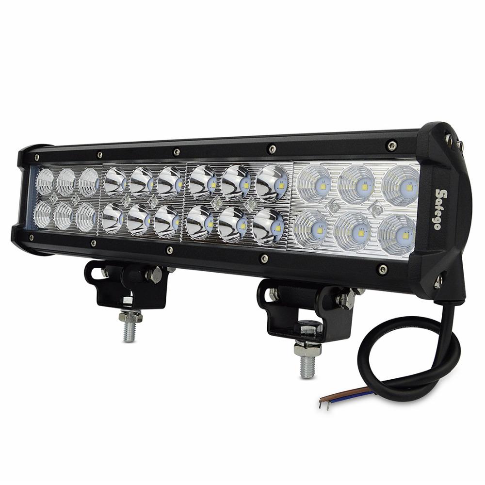 """12"""" Inch 72W Cree LED Work Light Bar External Light For"""