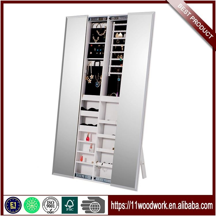 High Quality Chinese Wood Mirrored Cabinet For Jewelry
