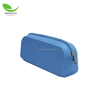 Candy-colored Silicone Pencil Case Zipper Pen Bag Multifunctional Handbag School Supplies Stationery Case Cosmetic Pouch