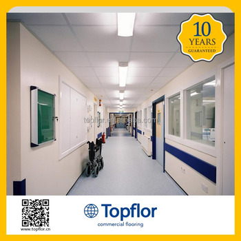 Topflor Slip Resistant Vinyl Flooring Sheet For Hospital