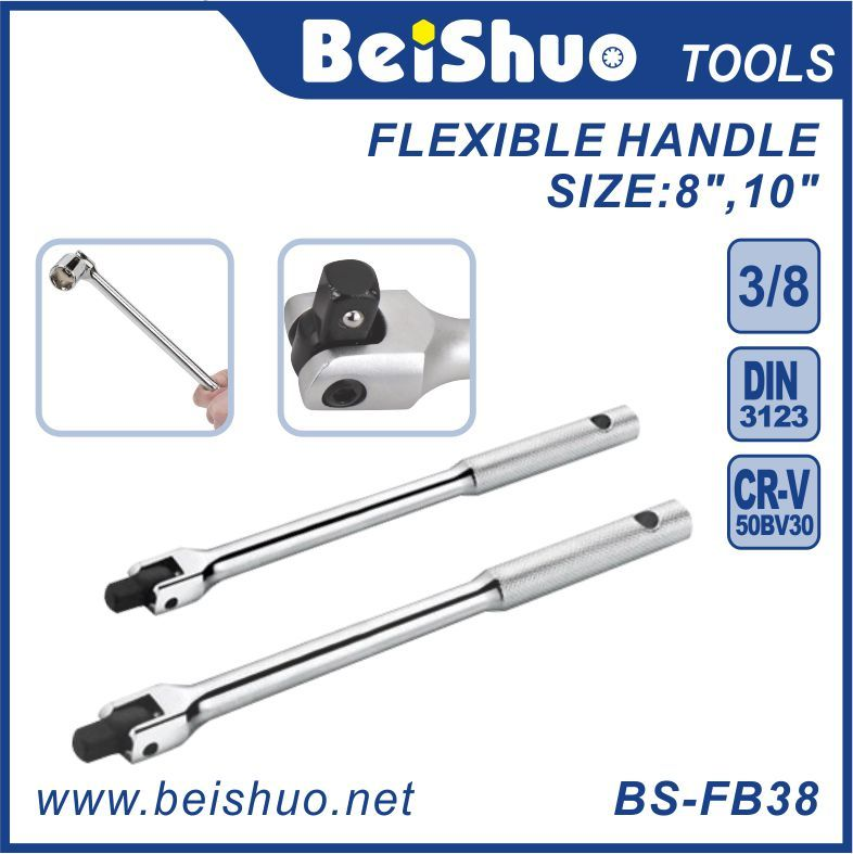 "BS-FB3810 250mm 3/8"" Drive Flexible Handle Extension Bar Knuckle Breaker Bar"