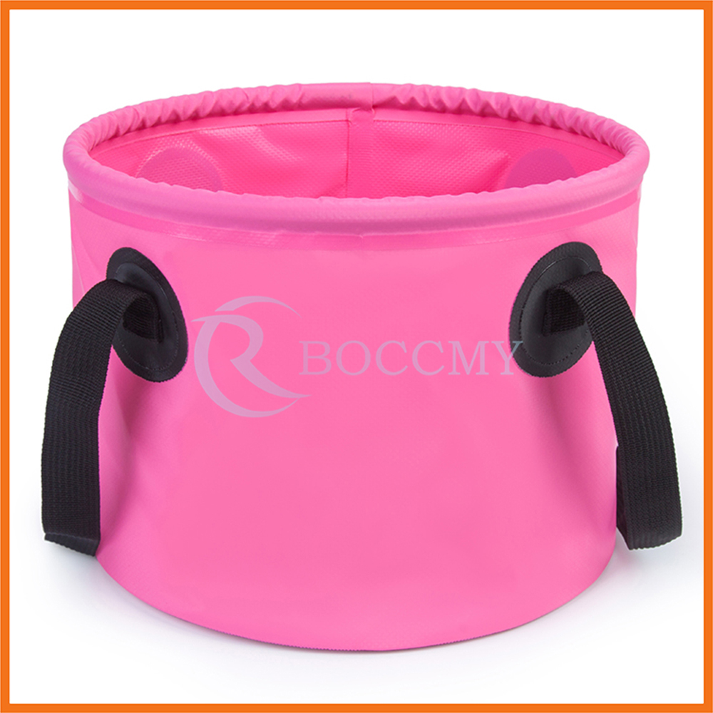 Hiking Camping Fishing Portable 500D PVC Tarpaulin 9L 11L Collapsible Water Container