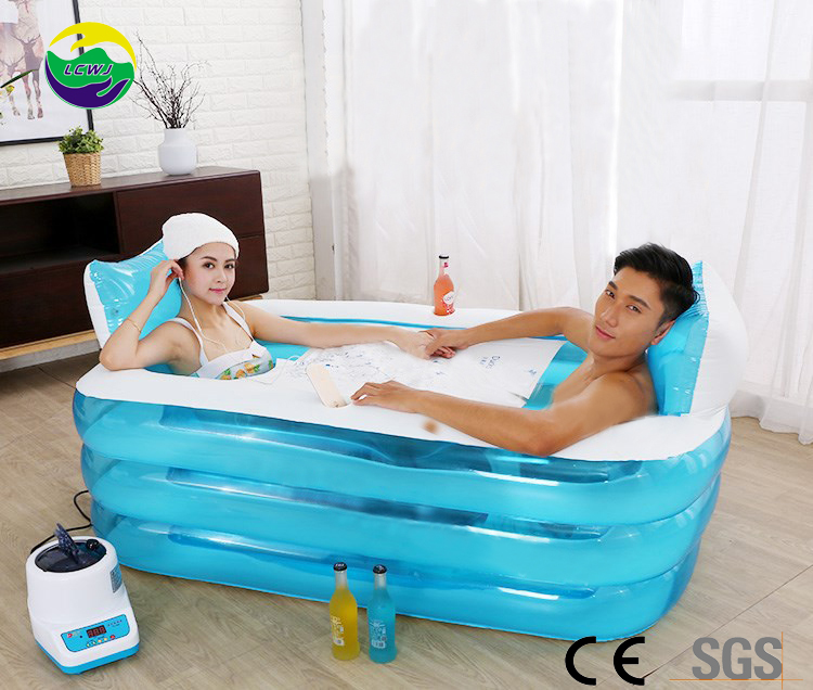 Manufacturer in stock Hot Selling above ground Plastic Inflatable Swimming Pool family size