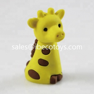 small toy eraser giraffe for bulk vening capsule toys