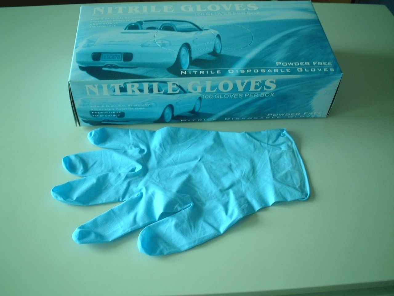 nitrile glove/disposable nitrile glove/nitrile examination gloves latex free sample