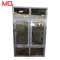 Heavy duty hurricane proof upvc&pvc casement window with transom