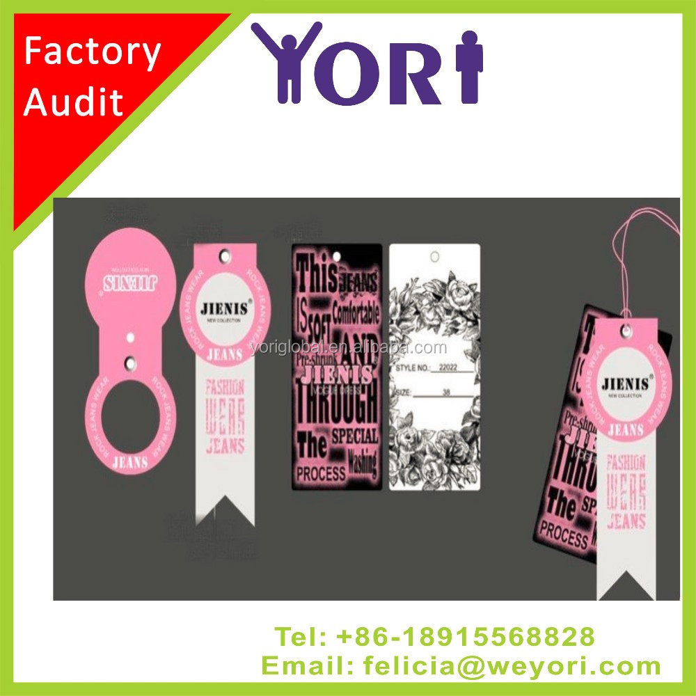 Yori high quality bottle hang tag label