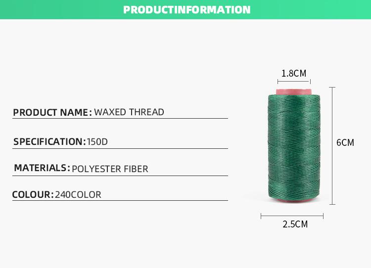 Sample Gratis Polyester Wax Draad Kleurrijk 250D Waxed Katoenen Koord, 1mm Waxkoord