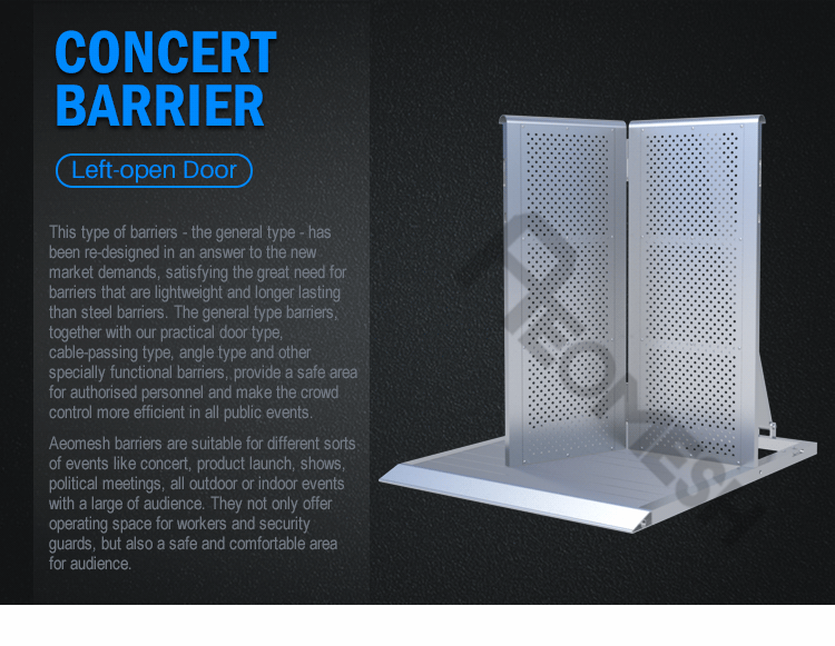 AEOBARRIER Left door Concert Barrier