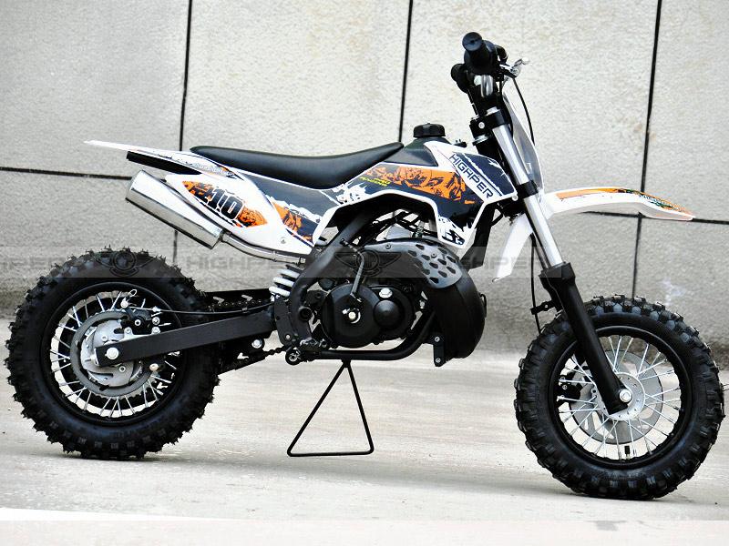 50cc dirt kick mini start gas bike stroke